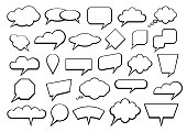 Vector illustration of the set of speech bubbles.