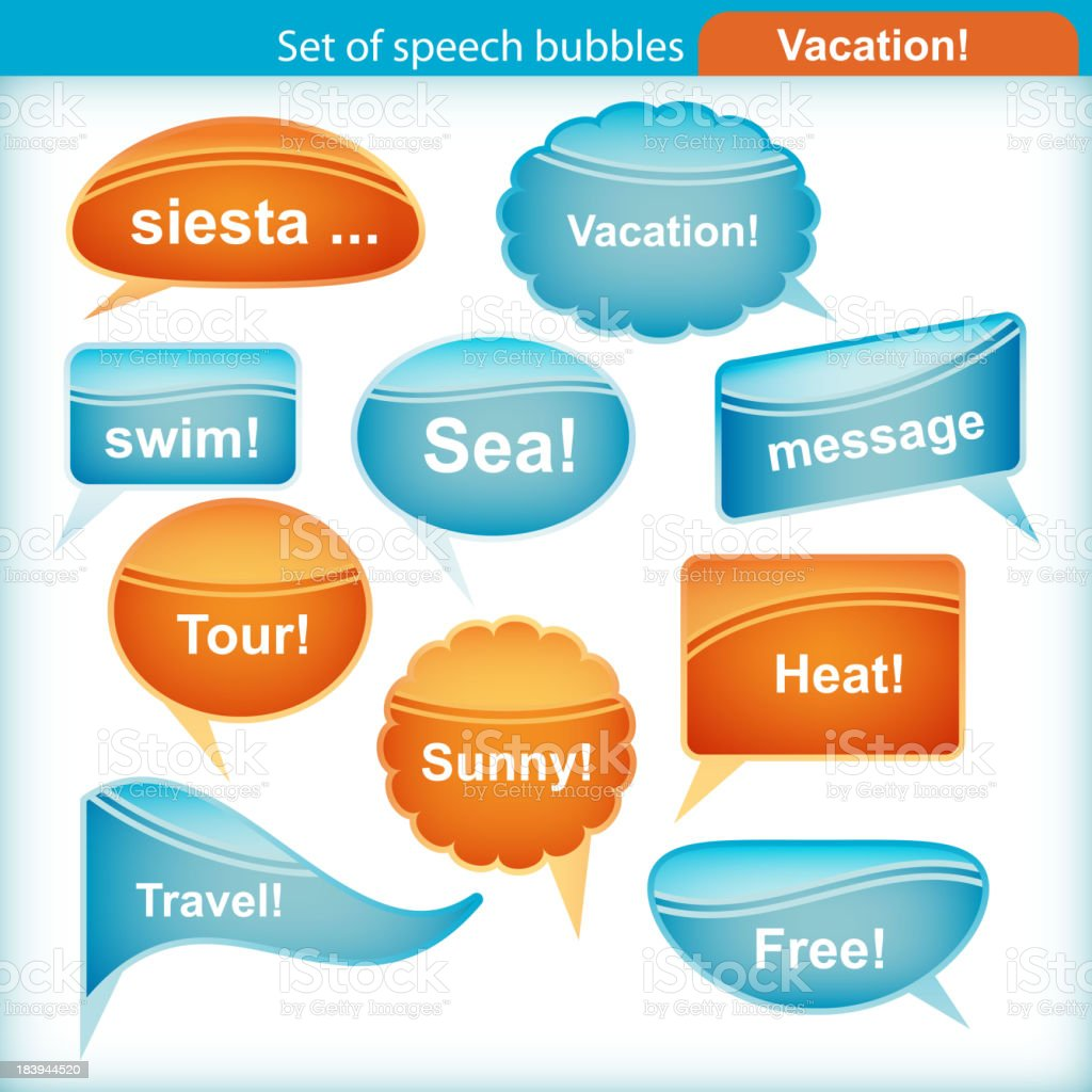 Set of speech bubbles. royalty-free set of speech bubbles stock vector art & more images of abstract
