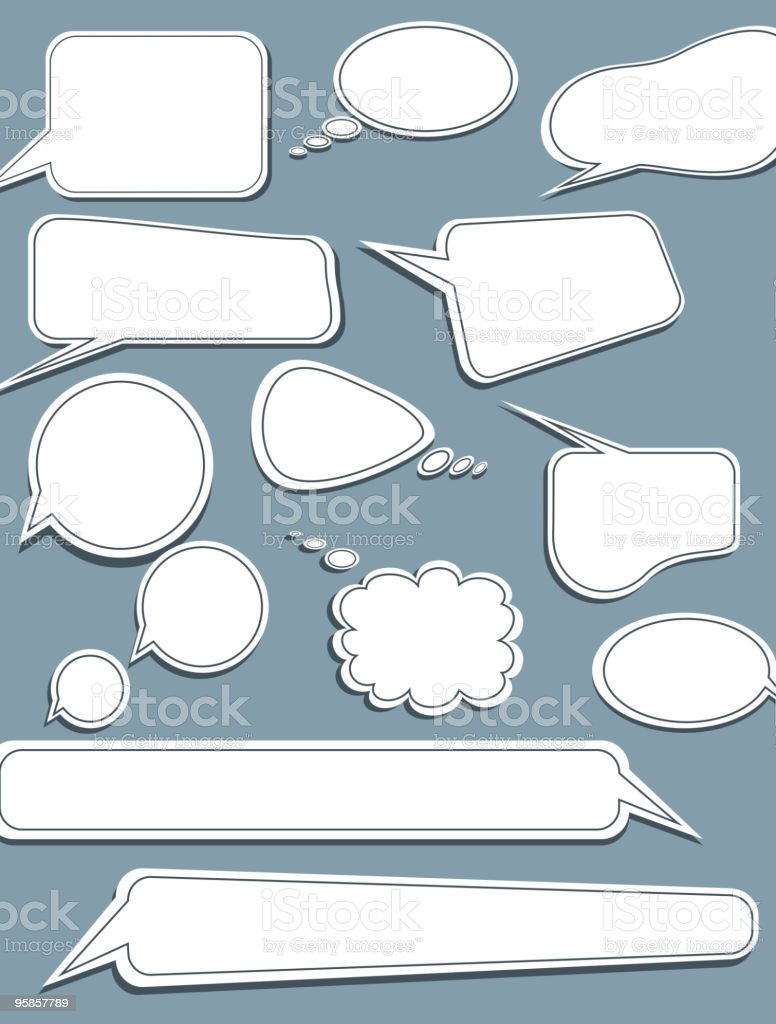 set of speech vector elements royalty-free set of speech vector elements stock vector art & more images of box - container