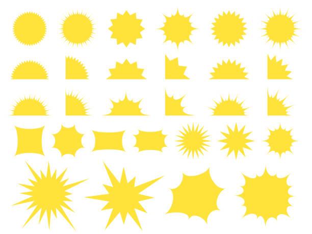 破片の黄色の吹き出しのセット。 - 爆発点のイラスト素材/クリップアート素材/マンガ素材/アイコン素材