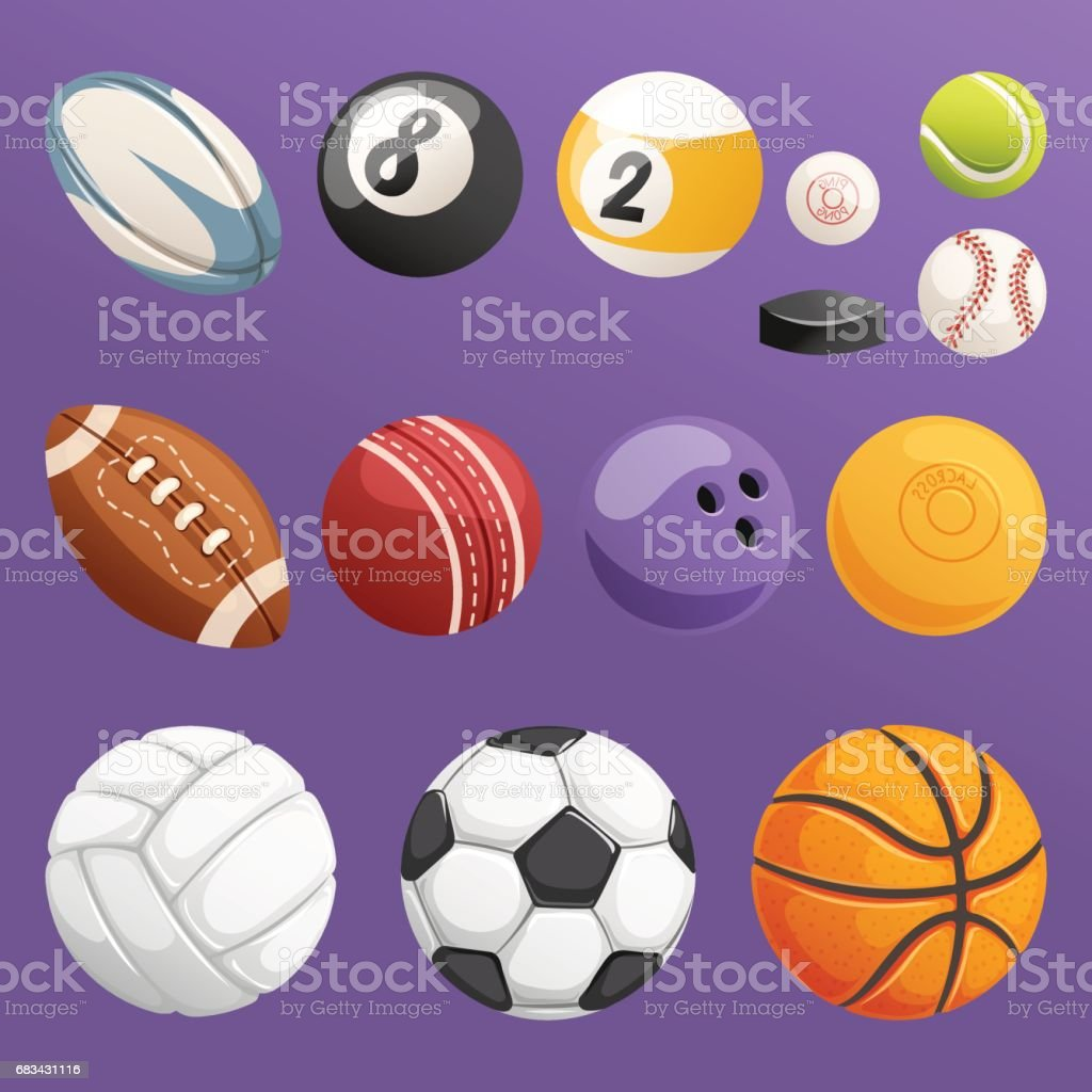 スポーツ ボール分離ベクトル コレクションのセット ベクターアートイラスト