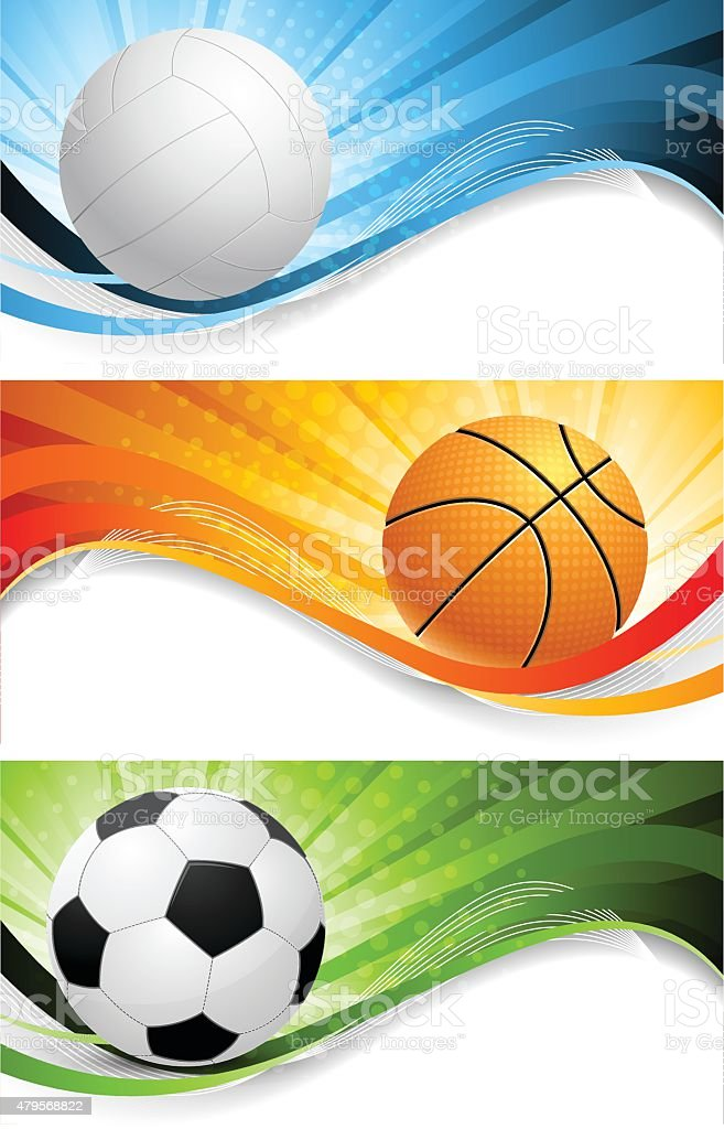 Set of bright sport banners