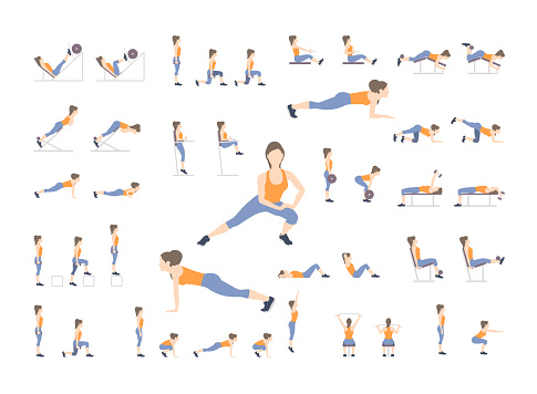Set of sport exercises