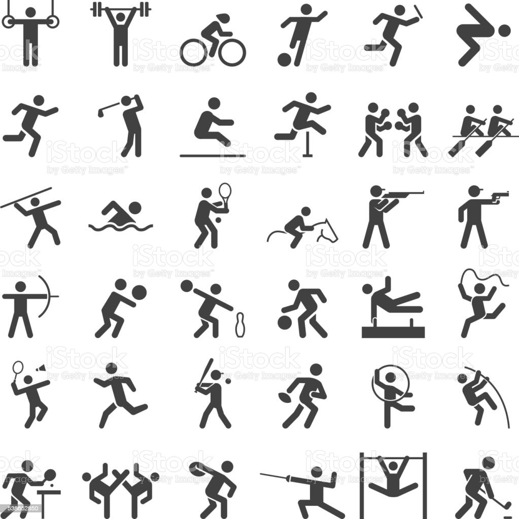 Set of sport icons. vector art illustration