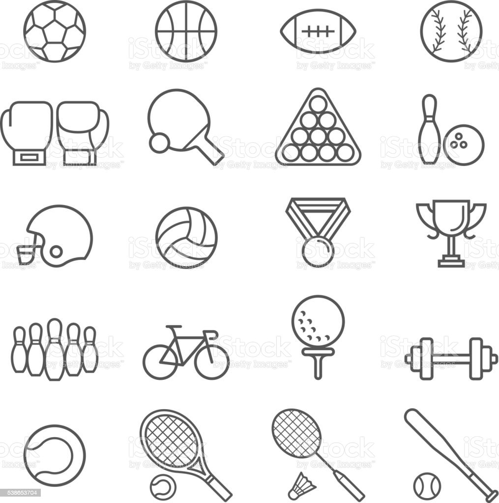 Set of sport icons. royalty-free set of sport icons stock illustration - download image now