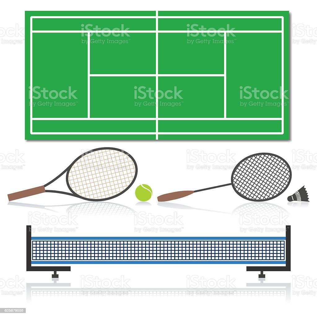Set of sports equipment, vector illustration. - ilustração de arte vetorial
