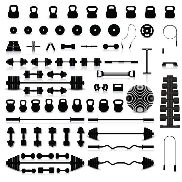 Set of sports equipment, vector illustration. vector art illustration