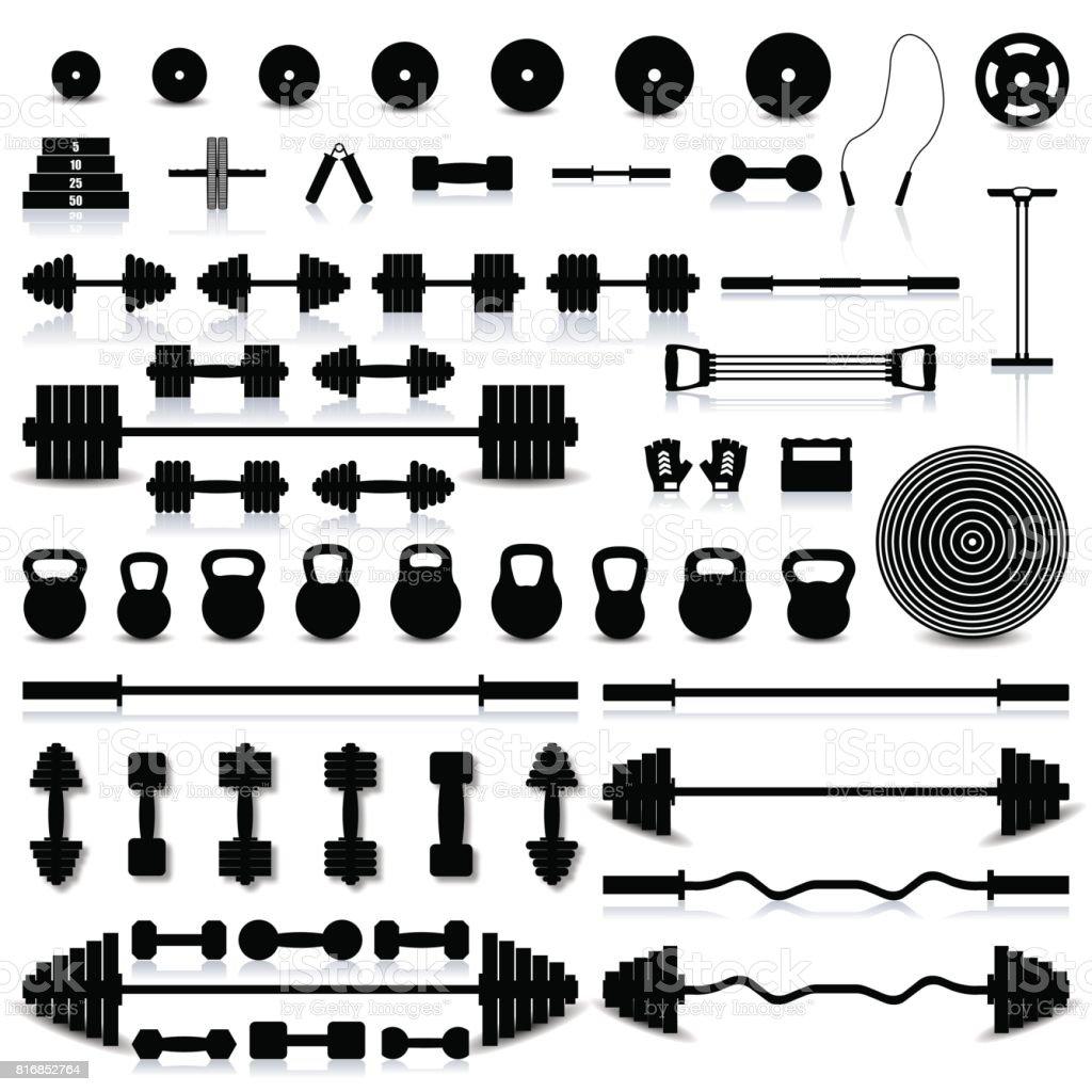 A set of sports equipment, vector illustration. vector art illustration