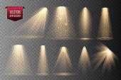istock Set of Spotlights isolated on transparent background. 1191741754