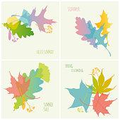 Set of Spring/Summer Banners. Vector illustration.