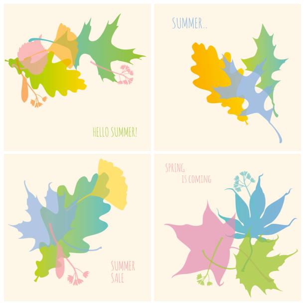 Set of Spring/Summer Banners vector art illustration