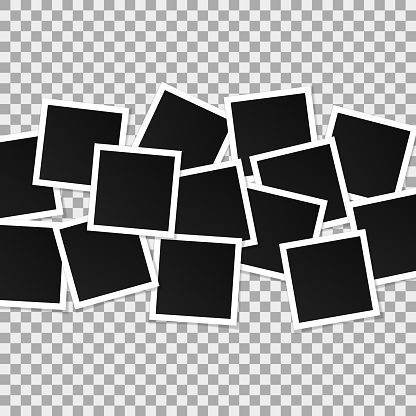 Set Of Square Vector Photo Frames Collage Of Realistic ... (416 x 416 Pixel)