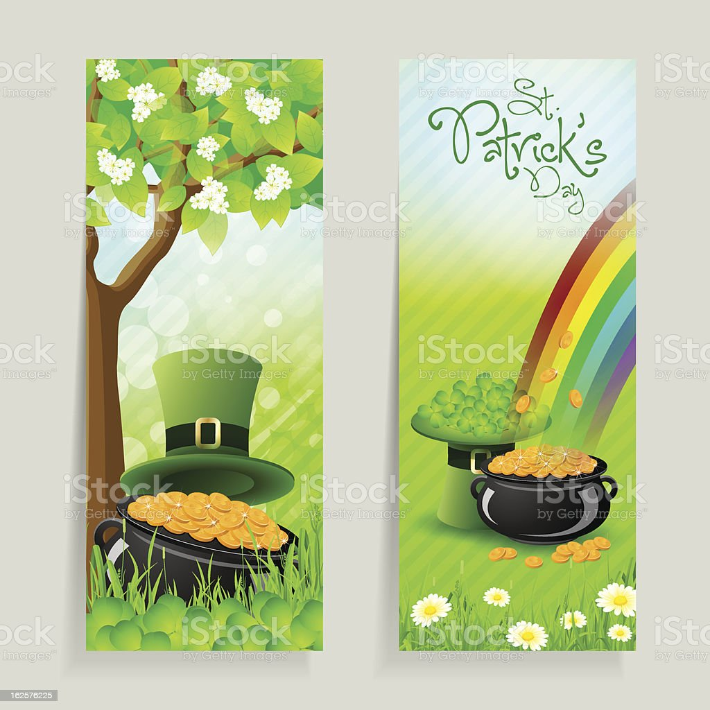 Set of St. Patricks Day Cards royalty-free stock vector art