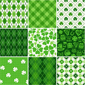 Set of St. Patrick's Day Seamless Patterns