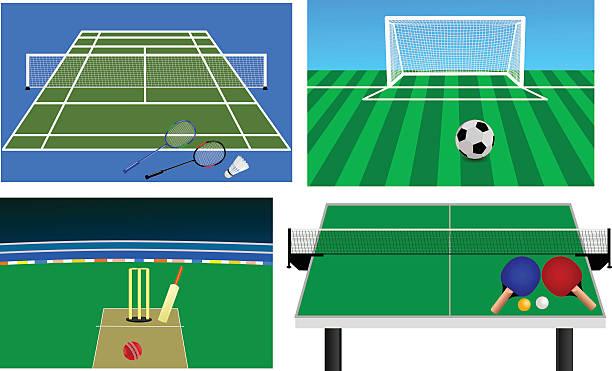 Set of Stadium Set of Stadium  ping pong table stock illustrations