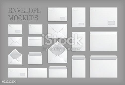 istock Set of standard vector envelopes. 652520220