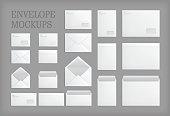 Set of standard vector envelopes.