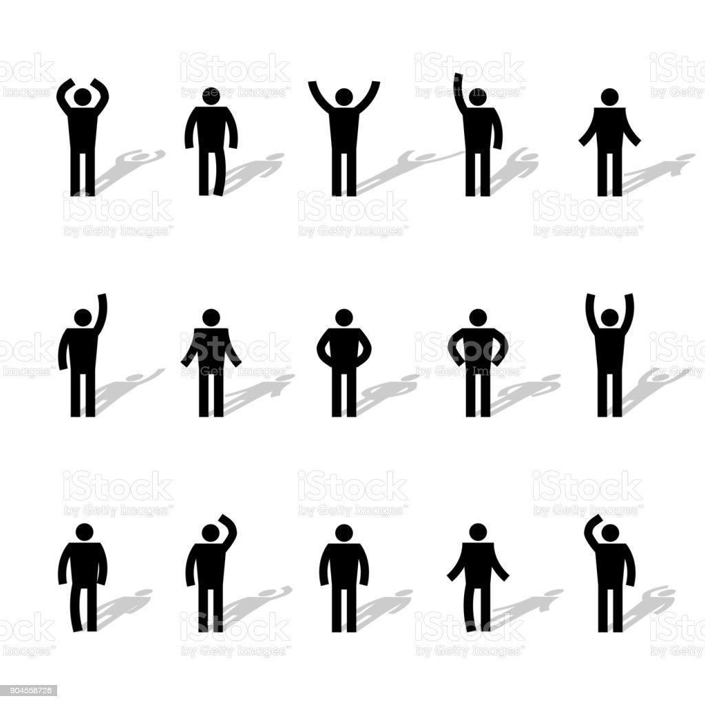 Ensemble de bâton chiffres, illustration vectorielle. - Illustration vectorielle