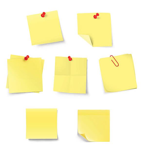 набор палка отмечает изолированный на белом фоне. - post it notes stock illustrations