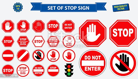 set of stop sign. easy to modify