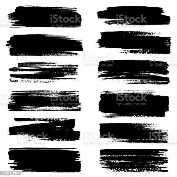 Set Of Strokes Stock Illustration - Download Image Now