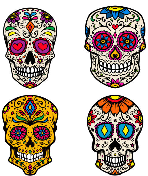 Best Sugar Skull Illustrations, Royalty-Free Vector ...