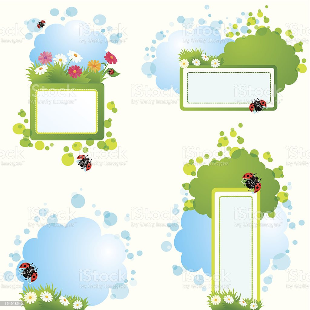 Set of summer backgrounds and frames royalty-free set of summer backgrounds and frames stock vector art & more images of agriculture