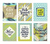 Set of summer holidays and tropical vacation posters