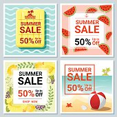 Set of summer sale template banner 2