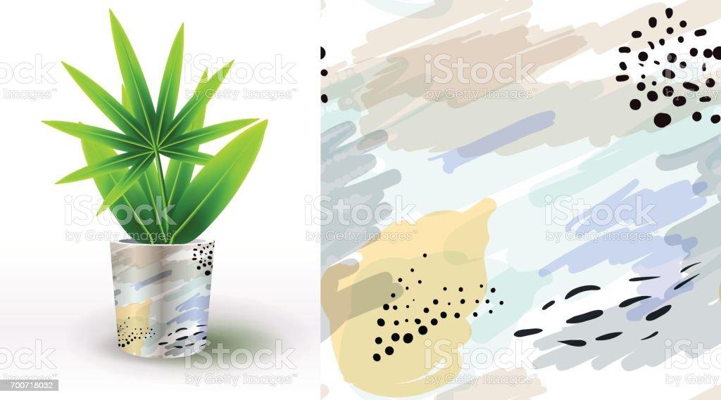 Ilustración de Un Conjunto De Patrones Florales únicos Verano ...