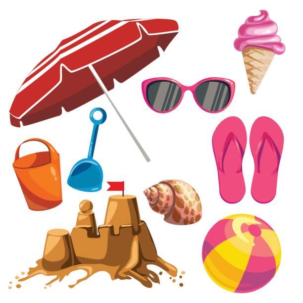 Satz von Sommersachen – Vektorgrafik