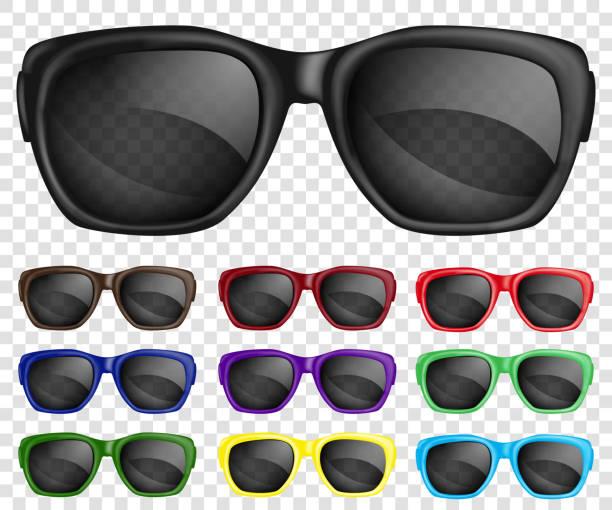ilustrações, clipart, desenhos animados e ícones de par de óculos de sol - moda urbana