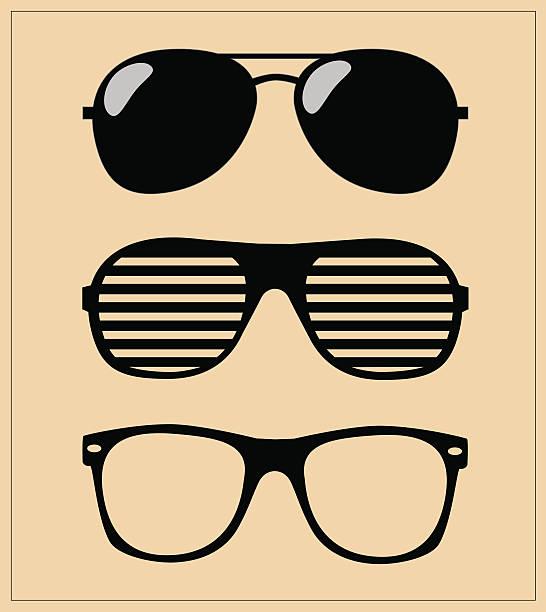 ilustrações de stock, clip art, desenhos animados e ícones de печатьset de óculos de sol fundo ilustração vetorial - com sombra