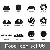 Supermarket Food flat icon set design