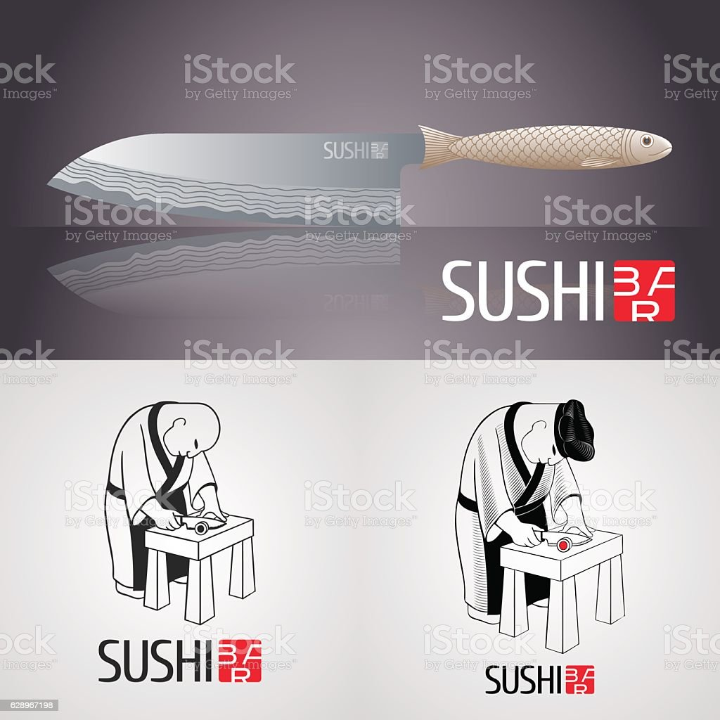 Set of sushi vector template icon, symbol