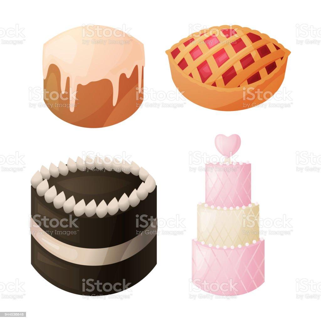 A Set Of Sweet Baked Goods For Dessert Chocolate Cake Cake Homemade ...