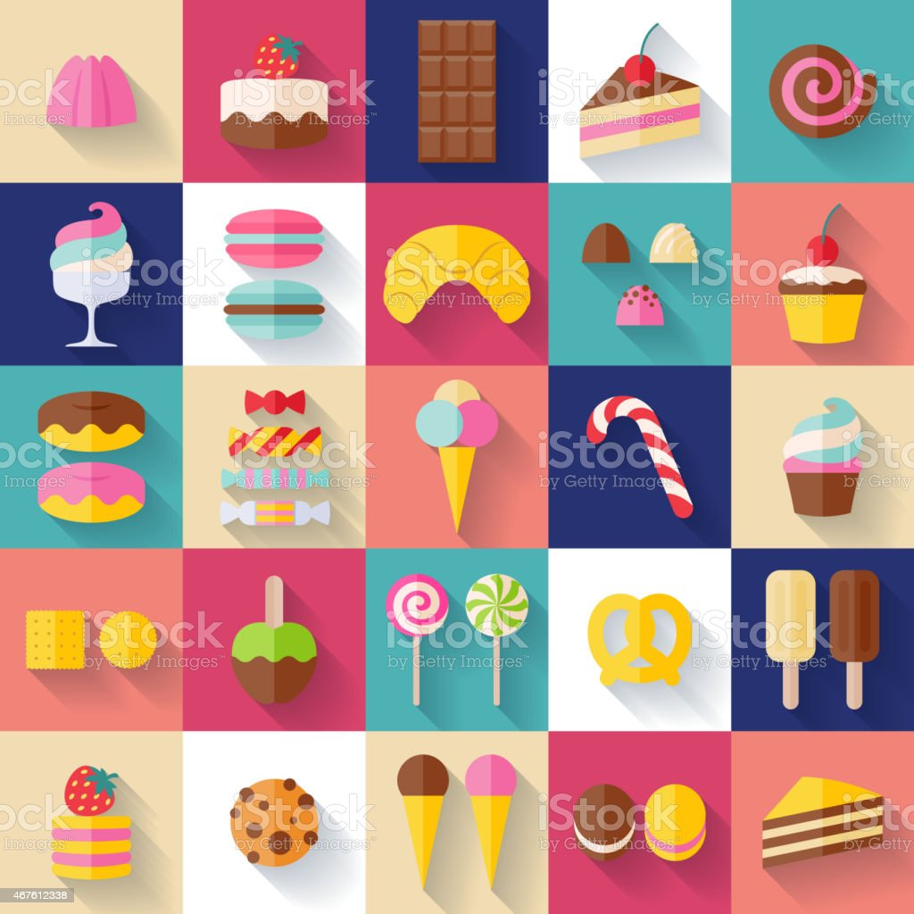 Set of sweet food icons