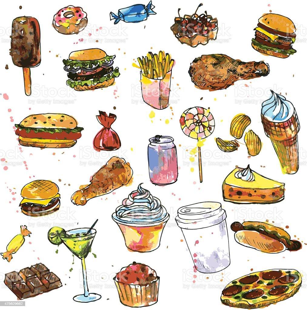 Repas Fast Food En Bois