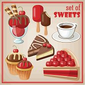 Set of sweets.
