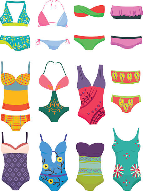 Royalty Free One Piece Swimsuit Clip Art, Vector Images ...