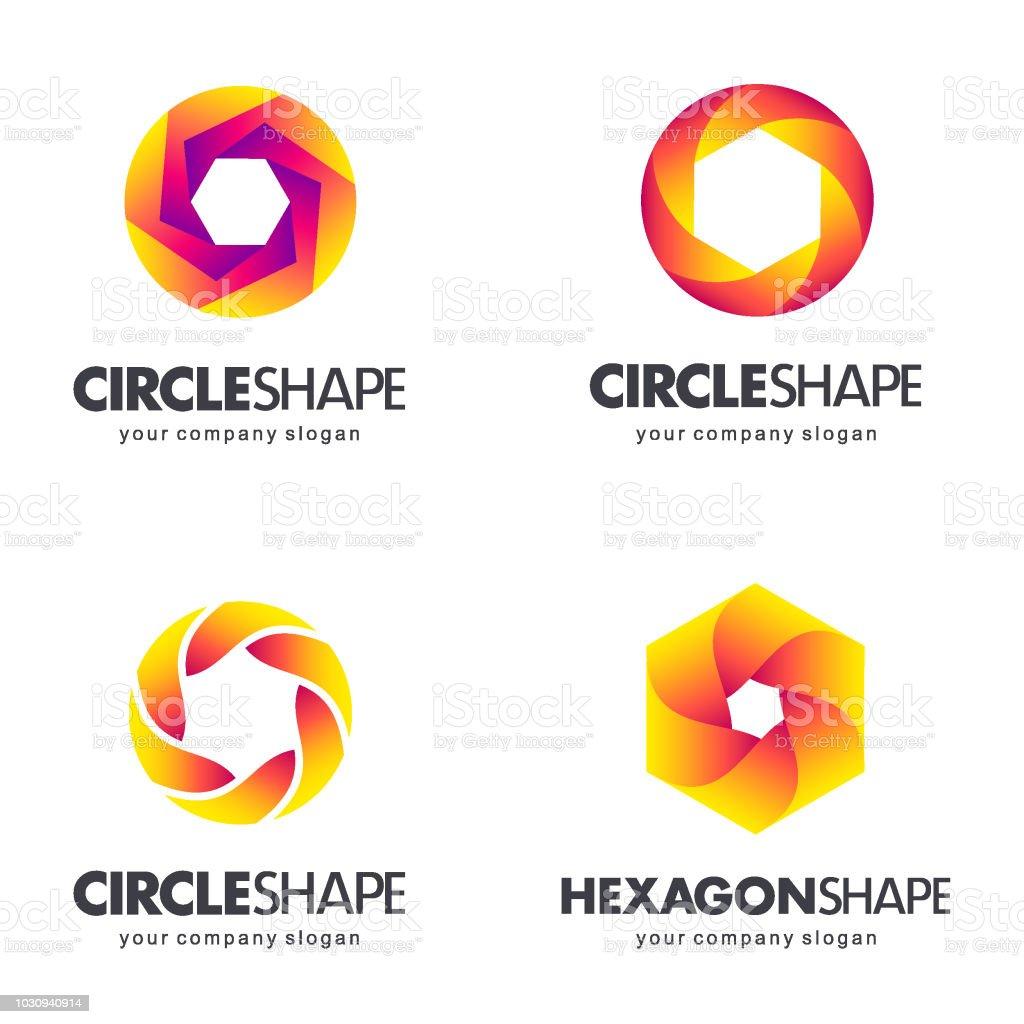 Set of symbol template for business. Design elements vector art illustration
