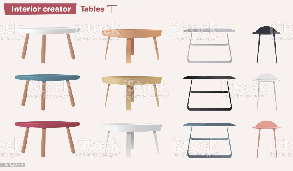Ensemble De Tables Illustration De Vecteur De Dessin Anime