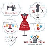 Set of tailor logos, labels, badges and emblems .