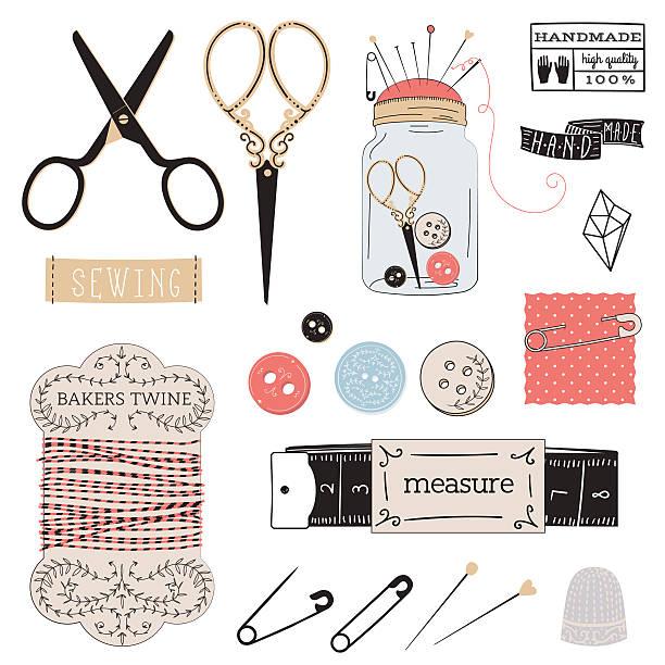 satz von ihnen die tools - herzkissen stock-grafiken, -clipart, -cartoons und -symbole