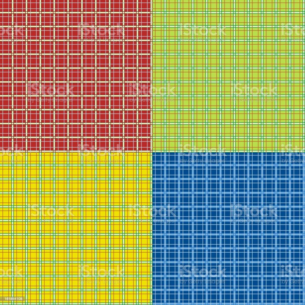 Set of tartan seamless patterns royalty-free stock vector art