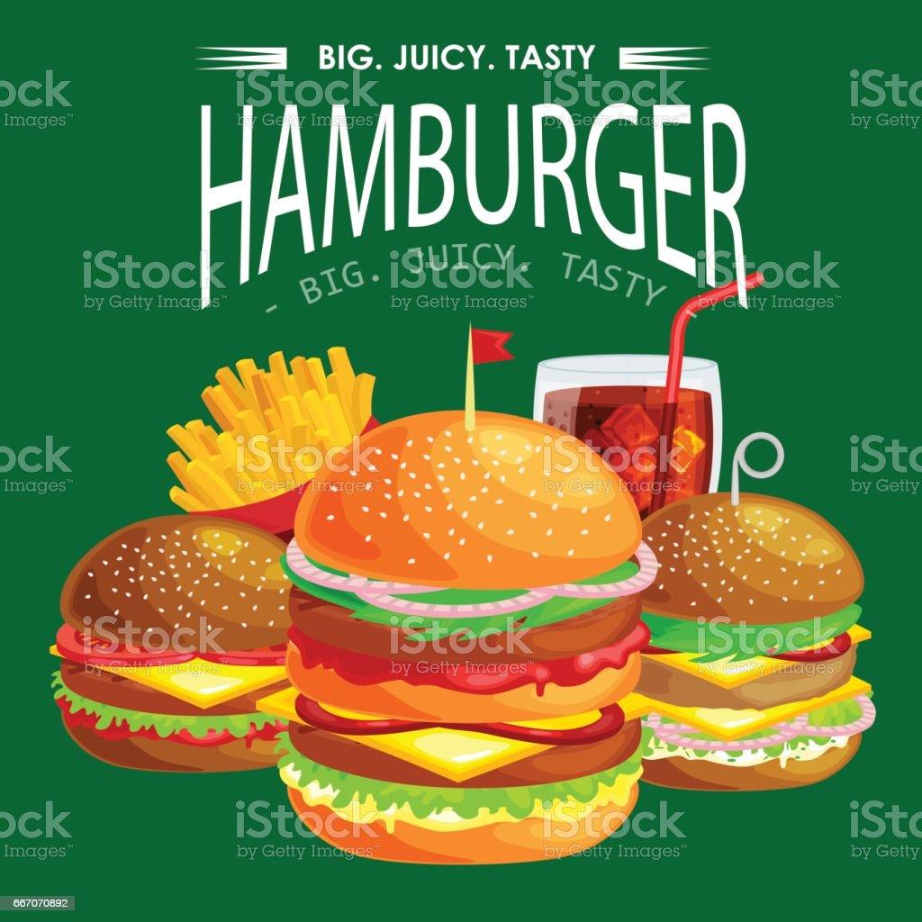 Satz Von Rindfleisch Leckere Burger Vom Grill Und Frisches Gemüse ...