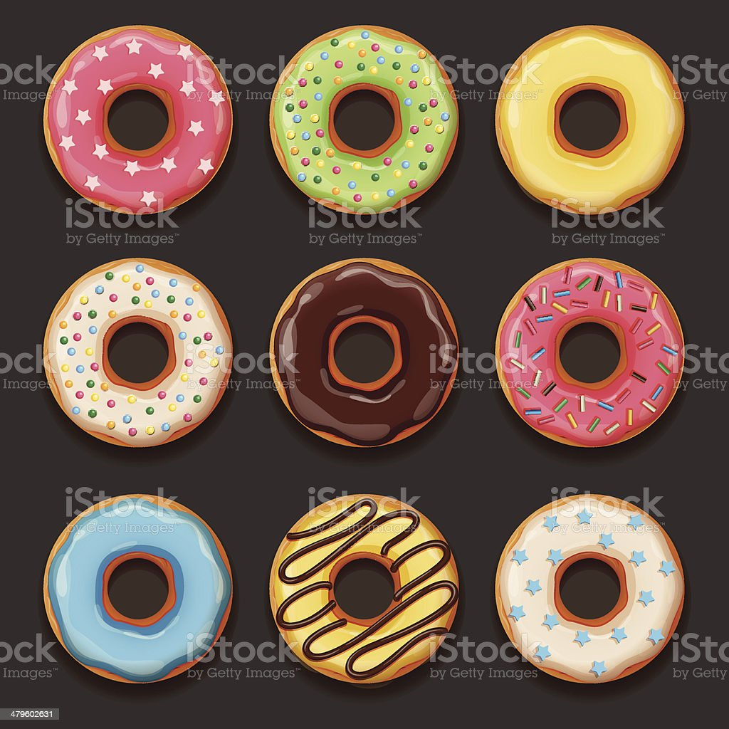 Set of tasty donuts