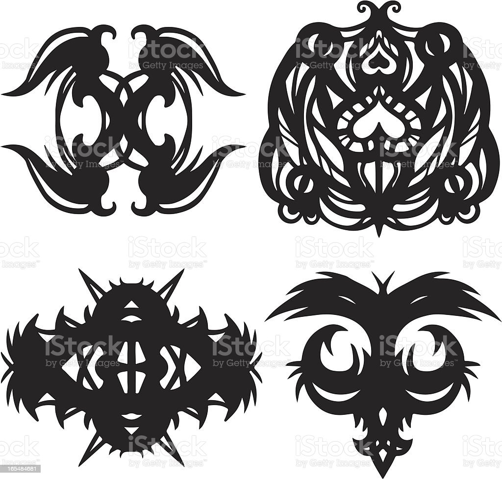 Set of tattoos royalty-free set of tattoos stock vector art & more images of abstract
