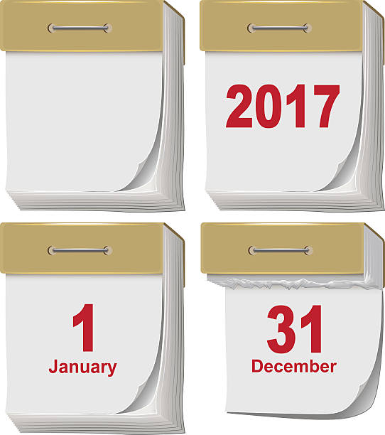 Set of tear off calendar 2017 – Vektorgrafik