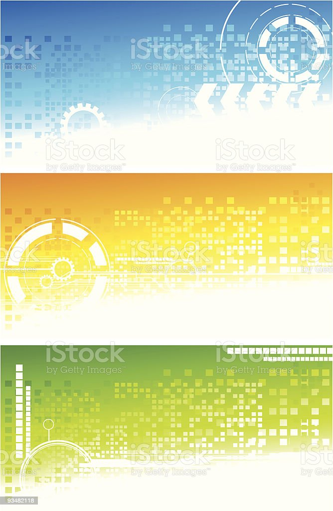 Set of technical banners royalty-free stock vector art